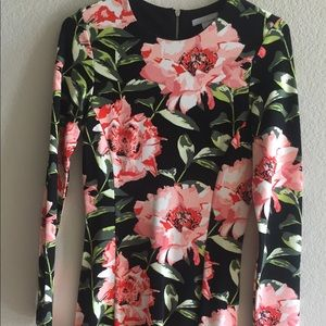 H&M floral print long sleeve dress - size small